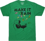 Monopoly Make it Rain Heather T Shirt Sheer