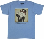 Monopoly Mustache Monday T Shirt Sheer