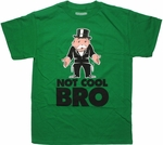 Monopoly Not Cool Bro Color T Shirt