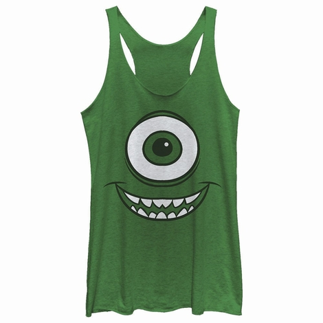 Monsters Inc Mike Face Tank Top Juniors T-Shirt