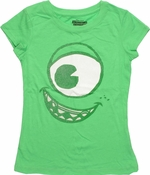 Monsters Inc Mike Glitter Face Juvenile T Shirt