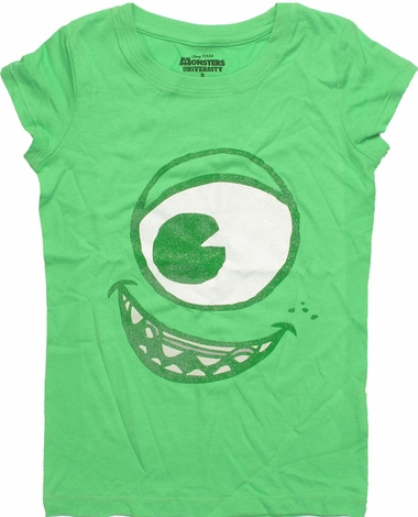 Monsters Inc Mike Glitter Face Youth T Shirt