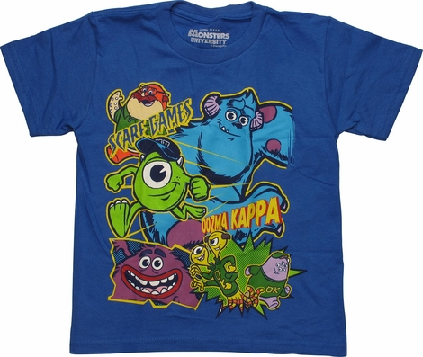 Monsters Inc Scare Games Glow Juvenile T Shirt