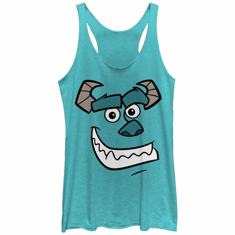 Monsters Inc Sulley Face Tank Top Juniors T-Shirt