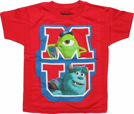 Monsters University MU Duo Red Juvenile T Shirt