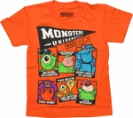Monsters University Oozma Kappa Orange Juvenile T Shirt