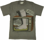 Monty Python Foot TV T Shirt Sheer