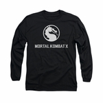 Mortal Kombat X Dragon Logo Long Sleeve T Shirt