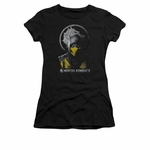 Mortal Kombat X Scorpion Bust Juniors T Shirt