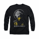 Mortal Kombat X Scorpion Bust Long Sleeve T Shirt