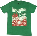 Mountain Dew Retro T Shirt