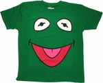 Muppets Kermit Face Dark Green T Shirt Sheer