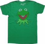 Muppets Kermit Head Vintage T Shirt Sheer