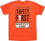 Muppets Labs Safety First T Shirt Sheer