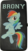 My Little Pony Brony Black Clutch Wallet