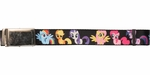 My Little Pony Characters Black Mesh Belt