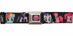 My Little Pony Characters Black Seatbelt Mesh Belt