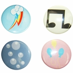 My Little Pony Cutie Marks Button Set