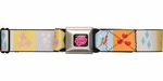 My Little Pony Cutie Marks Squares Seatbelt Belt