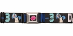 My Little Pony DJ Pon-3 Name Black Seatbelt Belt