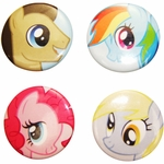 My Little Pony Faces Button Set
