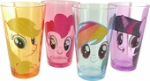 My Little Pony Glitter Hair Pint Glass Set