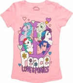My Little Pony Peace Love Juvenile T Shirt