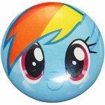 My Little Pony Rainbow Dash Face Button