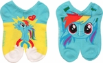 My Little Pony Rainbow Dash Low Cut 2 Pair Socks Set