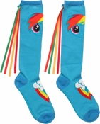 My Little Pony Rainbow Dash Ribbon Knee High Socks