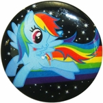 My Little Pony Rainbow Dash Space Button