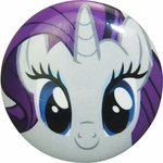 My Little Pony Rarity Face Button