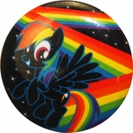 My Little Pony Zig Zag Rainbow Button