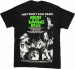 Night of the Living Dead Poster T Shirt