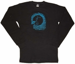 Nightmare Before Christmas Blue Swirl Long Sleeve T-Shirt Sheer