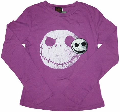 Nightmare Before Christmas Two Jacks Long Sleeve Youth T Shirt
