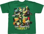 Ninja Turtles Action Grid Juvenile T Shirt