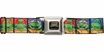 Ninja Turtles Cartoon Squares Seatbelt Belt
