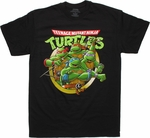 Ninja Turtles Circled Team T Shirt