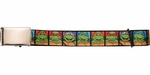 Ninja Turtles Classic Cartoon Turtles Squares Mesh Belt