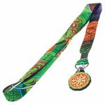 Ninja Turtles Collage Pizza Charm Lanyard