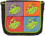 Ninja Turtles Faces Messenger Bag