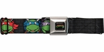 Ninja Turtles Faces on Turtle Shell Tools Seatbelt Mesh Belt