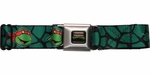 Ninja Turtles Faces Turtle Shell Seatbelt Mesh Belt