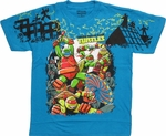 Ninja Turtles Fight Scene Youth T Shirt