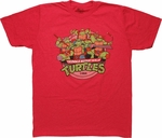 Ninja Turtles Group 1984 T Shirt Sheer