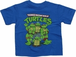 Ninja Turtles Group Blue Toddler T Shirt