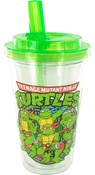 Ninja Turtles Group Flip Straw Travel Cup