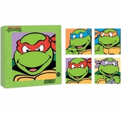 Ninja Turtles Heads Glass Coaster Set