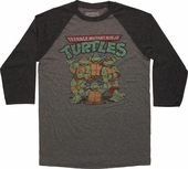 Ninja Turtles Heroes Logo 3/4 Raglan T-Shirt Sheer